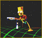 3d version of bart simpson voiced by nancy cartwright in cyberworld 3d